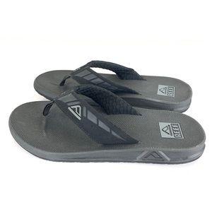 Reef Phantom Flip Flops Sandals Black Men's Sz 10